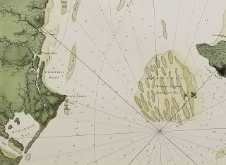A Chart of Delawar Bay, with Soundings and Nautical Observations - taken by Capt. Sir Andrew Snape Hammond of the Navy, and others composed and Published for the Use of Pilotage by J:F:W: Des Barres Esqr. - June 1st 1779.