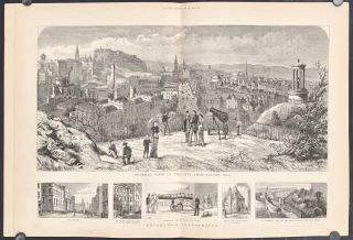 General View of the City from Calton Hill. Edinburgh Illustrated. SCOTLAND - EDINBURGH