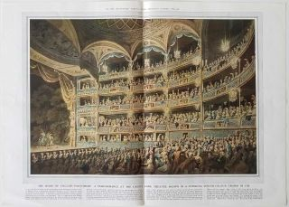 A Performance at Drury Lane Theatre 1795. ENGLAND - LONDON / THEATRE