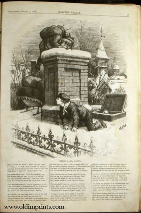Harper's Weekly. Bound volume of a broken run of the newspaper February 5, 1876 to April 7, 1877.