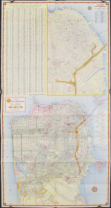 Shell Street Guide of San Francisco and Vicinity. CALIFORNIA - SAN FRANCISO