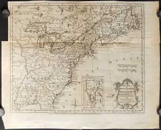 A New Map of the British Dominions in North America; with the Limits of the Governments annexed...