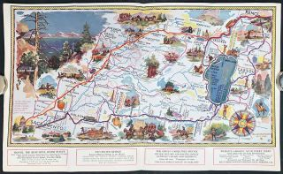 Across America by the Central Route. International Pacific Highways. US 40 US 50 US 30....