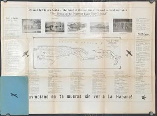Map of Havana. (Map title: Plano Directorio No. 7 de la Zona Comercial y de Diversiones de La Habana....Useful to Tourists. Commercial Guide of the Centrel of Havana...). ap Plano Directorio No. 7 de la Zona Comercial y de Diversiones de La Habana....