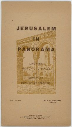 Jerusalem in Panorama. Showing Historical Walls & Armistice Demarcation Lines 1948.