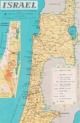 Touring Map of Israel.