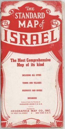 Map of Israel. (Cover title: The Standard Map of Israel. The Most Comprehensive Map of its Kind.)