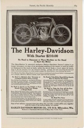 The Harley-Davison With Starter $210.00, MOTORCYCLES - HARLEY DAVIDSON.