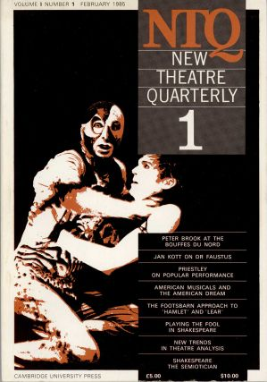 New Theatre Quarterly [FOUR ISSUES]. THEATER, Clive Barker, Simon Trussler.