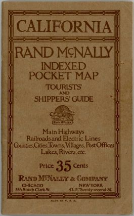 Rand McNally Indexed Pocket Map. Tourists' and Shippers Guide of California. CALIFORNIA