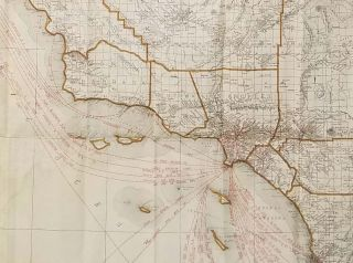 Rand McNally Indexed Pocket Map. Tourists' and Shippers Guide of California.