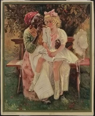 Untitled Color Print of African American Nanny and White Caucasian Child. AFRICAN AMERICAN HISTORY