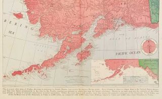 New War Map of the Alaska and Strategic Islands. Chicago Daily Tribune, Thursday, January 8, 1942.