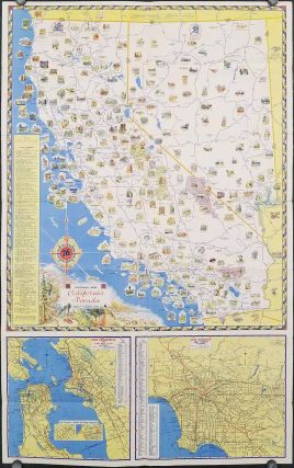 Pictorial Map. California Nevada. (Cover title: California - Nevada Pictorial Road Map. Union Oil Company.)