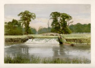 GROUP OF SEVEN UNTITLED Views of the British Countryside. GREAT BRITAIN - COUNTRYSIDE
