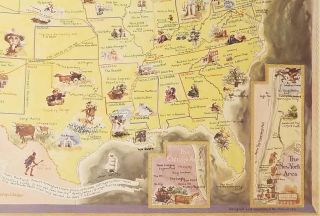 The Booklover's Map of the United States.