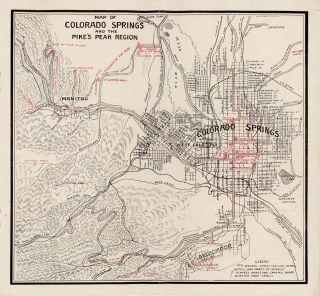 Colorado Springs. The Gateway to Colorado's Grandest Scenery. Free Guide and Map of Colorado...