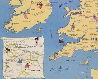 The Booklovers Map of the British Isles.