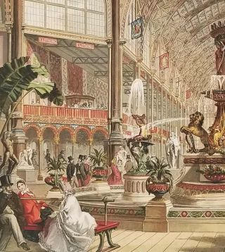 The Majolica Fountain in the International Exhibition. Supplement to The Illustrated London News. August 30, 1862.