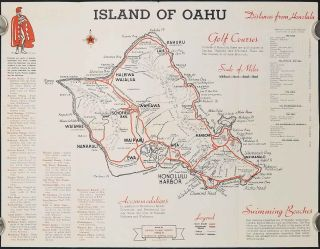 Island of Oahu. (Cover title: Oahu Crossroads of the Pacific.)