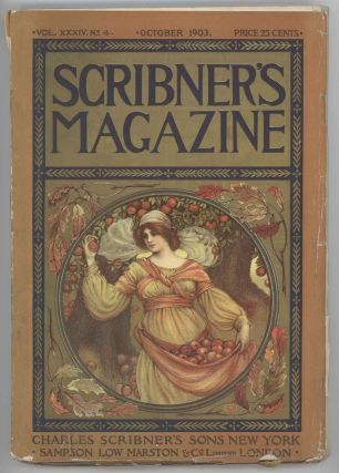 Scribner's Magazine. October 1903. ART NOUVEAU COLOR COVER / A. B. FROST HUNTING.