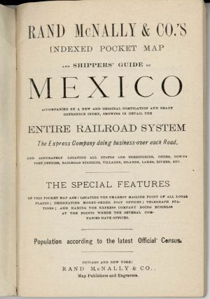 The Rand McNally Indexed County and Railroad Pocket Map and Shippers' Guide of Mexico.