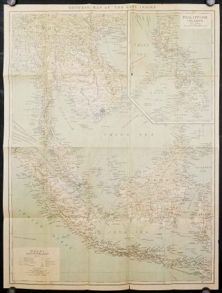 General Map of the East Indies. Malay Archipelago / Philippine Islands. ASIA - EAST INDIES