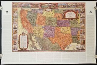 A Map of Exploration in the Spanish Southwest 1528 - 1793.