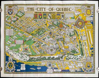 The City of Quebec with Historical Notes. (Envelope title: Map of the City of Quebec with...
