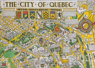 The City of Quebec with Historical Notes. (Envelope title: Map of the City of Quebec with Historical Notes)