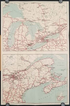 Road Maps of Ontario and Quebec. CANADA - PROHIBITION ERA MAP