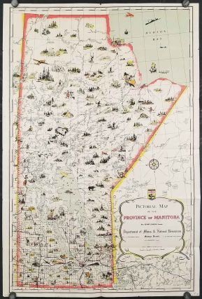 Pictorial Map of the Province of Manitoba (Cover title: Manitoba, Canada's Keystone Province)....