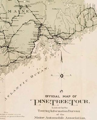 Official Map of Pine Tree Tour.
