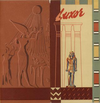 FIVE ITEMS relating to tourism in Egypt in the 1930s: The Nile. Cairo. Luxor [with Guide Plan of...