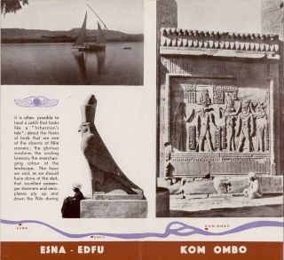 FIVE ITEMS relating to tourism in Egypt in the 1930s: The Nile. Cairo. Luxor [with Guide Plan of Luxor & Karnak]. Asswan. Assouan.