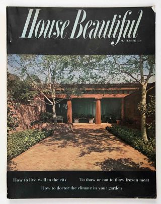 House Beautiful. September 1954. MID CENTURY MODERN