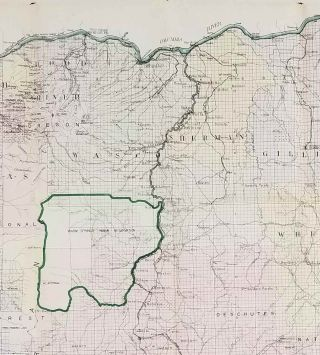 Map of the State of Oregon.