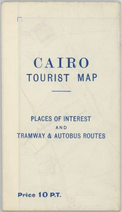 Cairo Tourist Map. Places of Interest and Tramway & Autobus Routes.