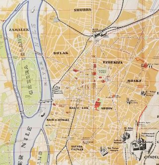 Tourist Map of Cairo and Environs / Cairo This Week. [TWO ITEMS]