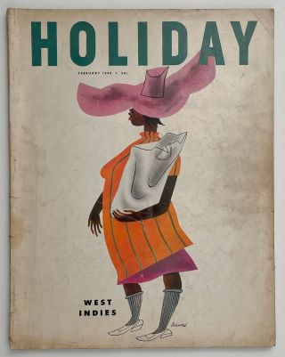 Holiday Magazine. February 1949. HARVARD / WEST INDIES / ALGIERS