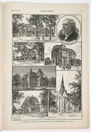 The Northwestern University and Other Buidlings at Evanston, Illinois. IN COMPLETE ISSUE OF...
