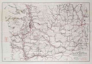 Road and Recreation Map Washington. WASHINGTON STATE