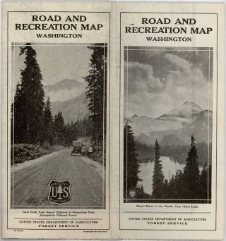 Road and Recreation Map Washington.