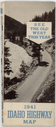 Bureau of Highways Map of the State of Idaho Showing State Highways and Connecting Roads, 1941. (Cover title: 1941 Idaho Highway Map).