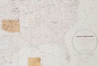 Map Showing the Location of the Indian Reservations Within the Limits of the United States and Territories.