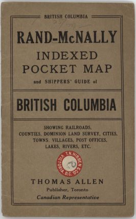 The Rand McNally New Commerical Atlas Map of British Columbia. (Cover title: Rand McNally Indexed Pocket Map and Shippers' Guide of British Columbia).