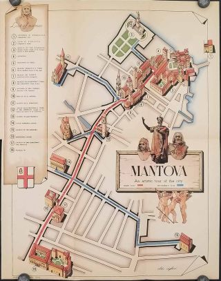 Mantova (Mantua). (Map title: Mantova. An Artistic Tour of the City