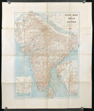 Road Map of India and Burma. INDIA PRE PARTITION - BURMA