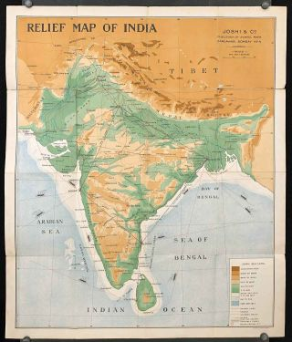 Road Map of India and Burma.