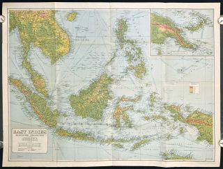 East Indies .Mercators Projection. Map No. 316. SOUTH EAST ASIA - BORNEO / INDONESIA / PHILIPPINES
